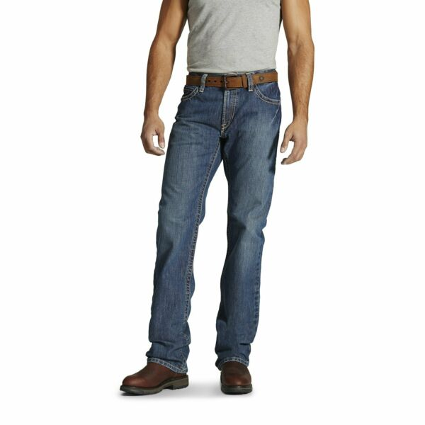 New! Ariat FR Men's Fire-Resistant M4 Clay Low-Rise Bootcut Work Jeans 10016173
