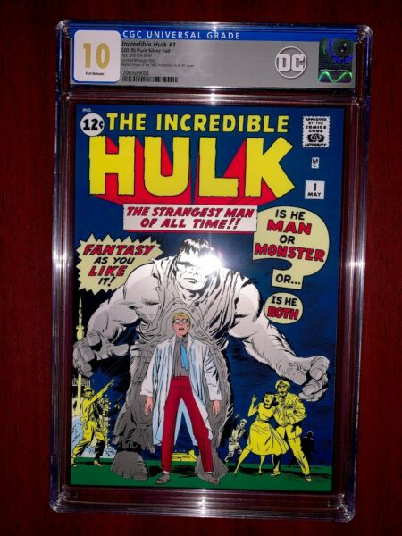 2019 USA Silver 1 oz 1962 Incredible Hulk #1 GEM MINT 10 FR CGC Foil Cover ERROR