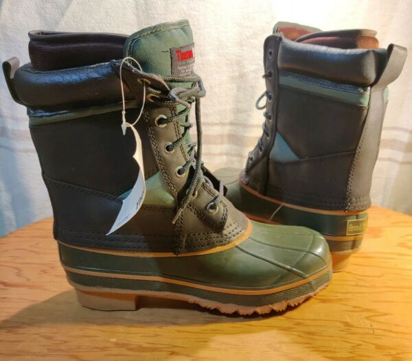 ThermoLite Dupont Insulated Rubber Winter Snow Duck Boots Men's sz 7 Steel Shank