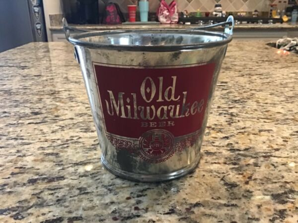 Vintage 1982 Old Milwaukee Beer Schlitz Brewing Co. Ice Bucket  Pail NICE !!