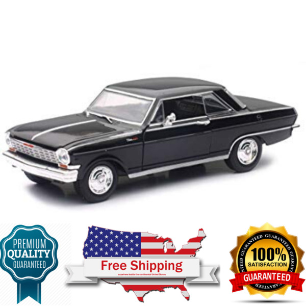 diecast model car 1964 Chevrolet Nova SS Black Muscle Car Collection 125 scale