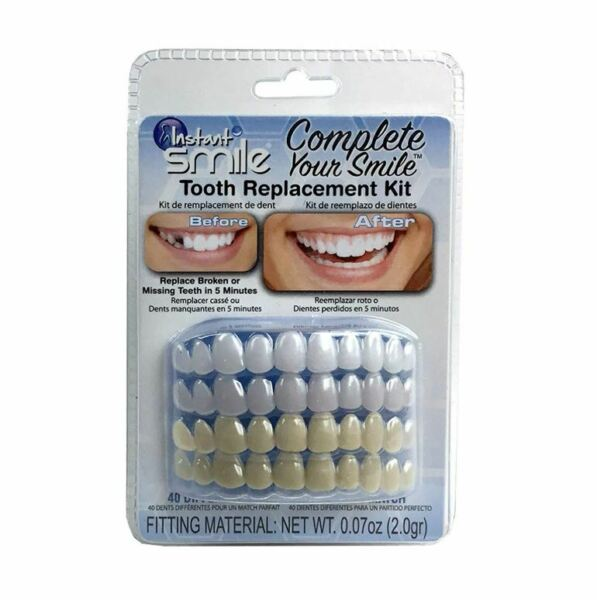Complete Your Smile Temporary Tooth Replacement Kit fixes missing tooth in mins $21.99