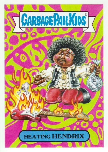 2017 Garbage Pail Kids Battle of the Bands #CLR9b Heating Hendrix