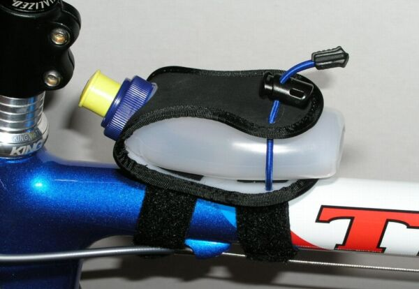 Bike Mounted Gel Flask Holder top tube Gu 4 6 oz size $9.90