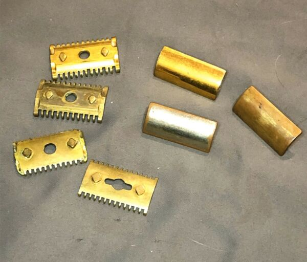 Lot of Vintage Gillette GOODWILL Gold Plate Open Comb Shaving Safety Razors!