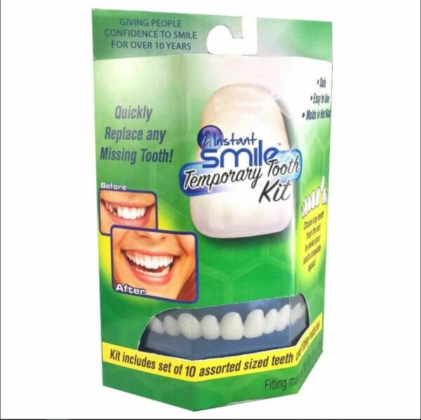 Instant Smile Temporary Tooth Kit with 10 Upper Teeth Smile with Confidence $17.95