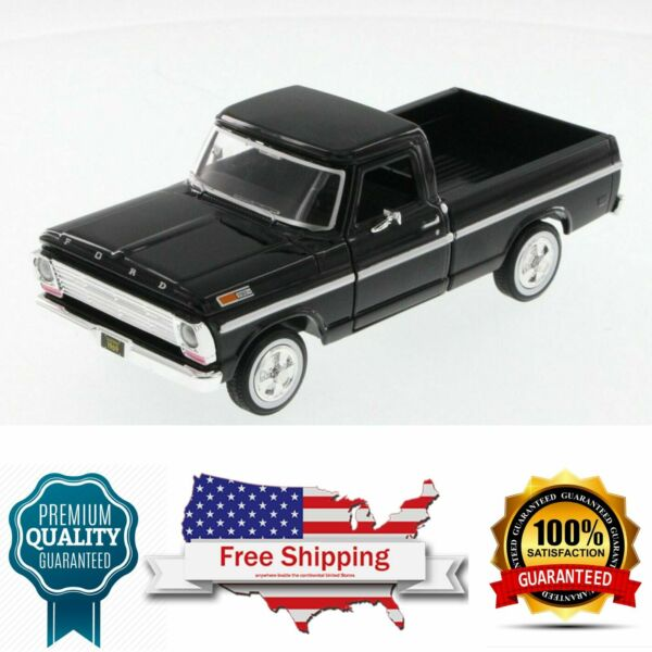 diecast model 1969 Ford F-100 Pickup black Truck 124 Scale