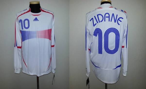 (M) FRANCE SHIRT JERSEY MAILLOT ZIDANE REAL MADRID BORDEAUX ITALY SPAIN KOREA
