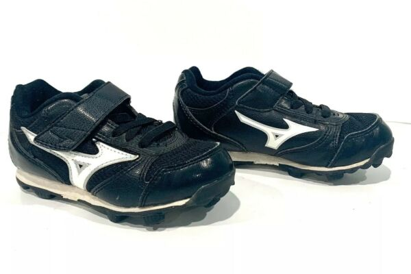 10Y Toddler Cleats MIZUNO 9 Spike Pre School Franchise 6 Black White Size 10Y $9.99