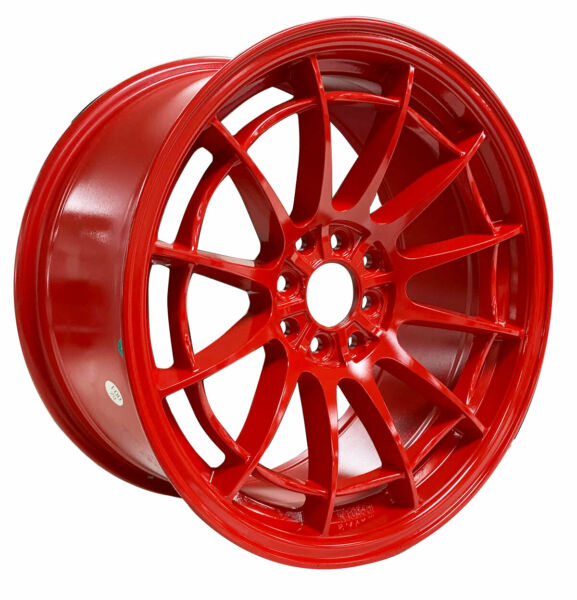1 ONE NEW 17#x27;#x27; L422 NOT03 17X8.535 4 LUG LUG FORD STI HONDA TRACK WHEELS RED