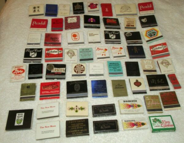 Lot of 59 Vintage Los Angeles & Environs CA Matchbooks Restaurants Venues #1