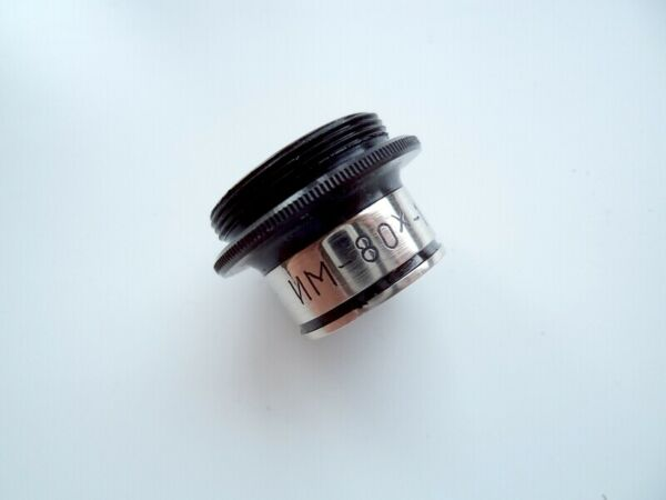 Lens MI 80 10 oil immersion for microscope $21.00