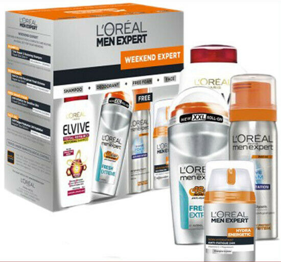 LOreal Men Expert Hydra Energetic Lotion Anti Perspirant4pcs Gift Kit RRP$69.95