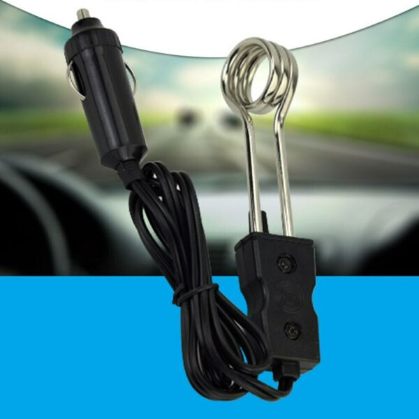 12V 24V Portable Electric Car Immersion Water Heater For Camping Picnic Travel $7.99