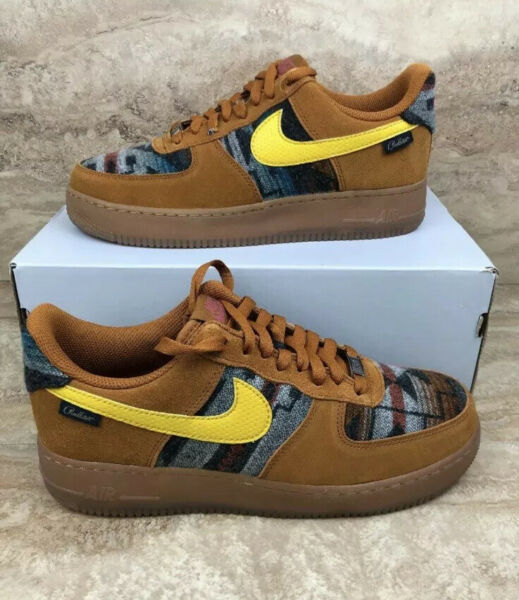 Nike Air Force 1 '07 N7 AF1 Pendleton Limited Men's Shoes Brown Sneakers