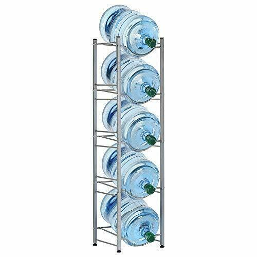 Water Bottle Rack Storage 5 Tier Shelf System Stand For 5 Gallon Durable Holder