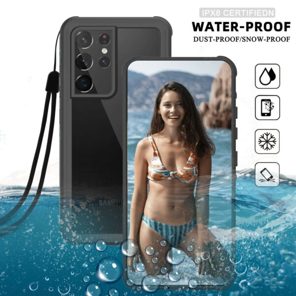 For Samsung Galaxy S20 Note 20 Ultra 5G S20 Plus Waterproof Clear Case Cover