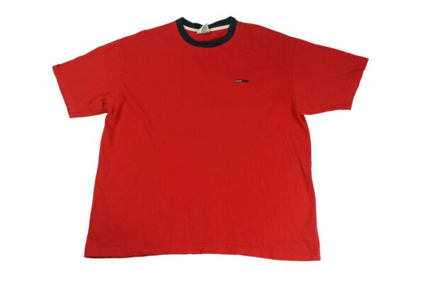 Tommy Hilfiger Tommy Jeans basic red T shirt embroidered Tommy Logo XXL $14.99