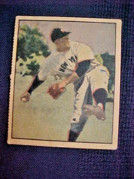1951 Berk Ross ALLIE REYNOLDS Hit Parade of Champions card #3-3