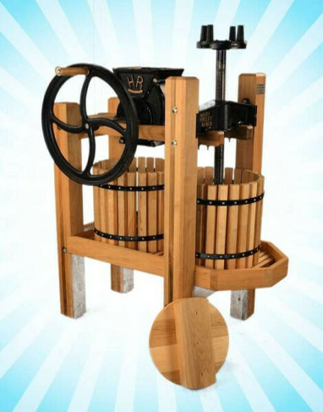 Happy Valley American Harvester Cider Press Grinder Apple Double Tub Motor Wheel