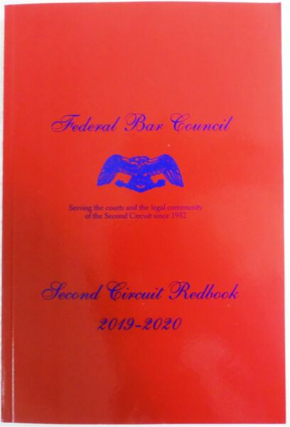 Federal Bar Council Second Circuit Redbook 2019 2020 Paperback 2019