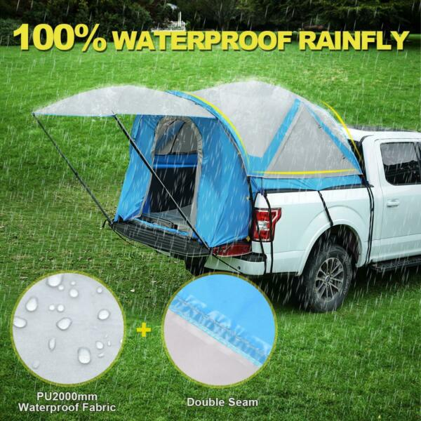 Quictent Waterproof Truck Tents with Awning and Rainfly for Mid Size Bed