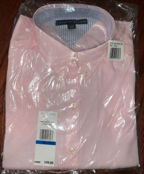 Women#x27;s Tommy Hilfiger Button Down Shirt Pink or Blue $19.95