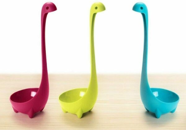 Loch Ness Monster Spoon Nessie Ladle Standing Kitchen Soup 3 Color Tool Set of 3
