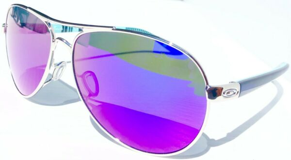 NEW Oakley FEEDBACK Aviator Chrome POLARIZED Galaxy Violet Womens Sunglass 4079 $178.88
