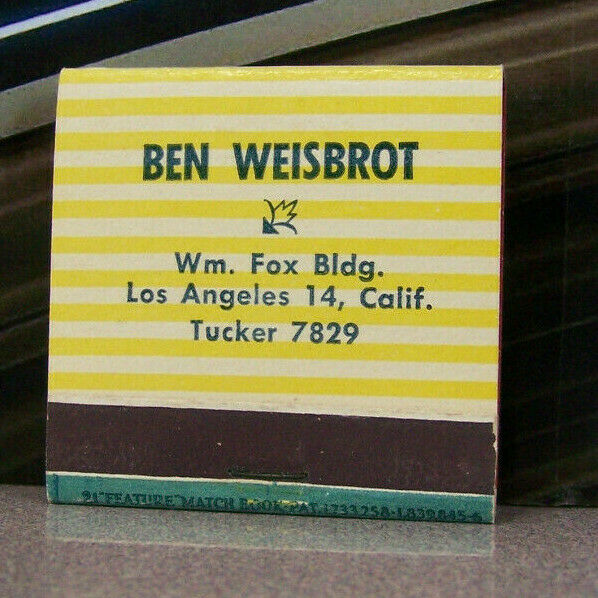 Vintage Matchbook K7 Los Angeles California Ben Weisbrot Eagle Clothes Feature