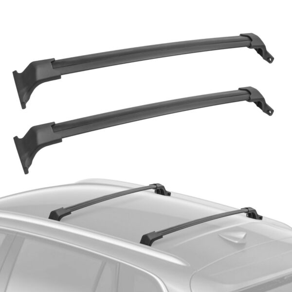 2x Upper Roof Rack Cross Bar Rail Crossbars Rooftop For 2016 2018 Buick Envision $74.49