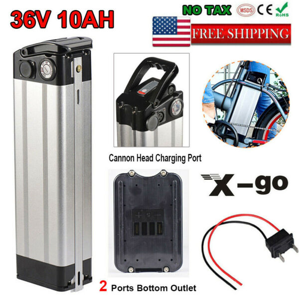 36V 10AH Silverfish Li ion E bike Bike Battery Pack 250 350W Electric Bicycles $175.60