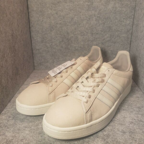 *New* Adidas Campus BB0085 Core Off White Brown Sneakers Originals Size 11