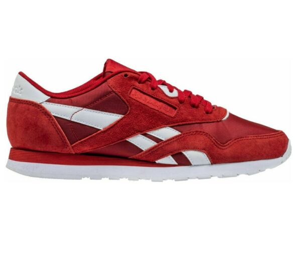 Reebok Classic Nylon PN Power Red White BS9802 Mens Trainers Sneakers
