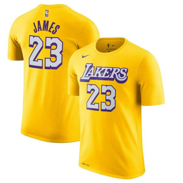 2019 Nike Los Angeles Lakers LeBron James City Edition Player Name Number Shirt