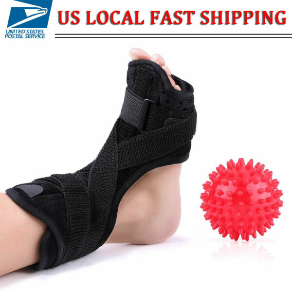 Plantar Fasciitis Night Splint Ankle Support Protector Foot Drop Sprain Brace US