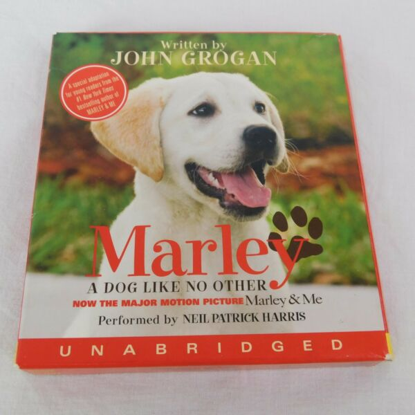 Marley Dog Like No Other John Grogan reader Neil Patrick Harris for Young Reader $8.00