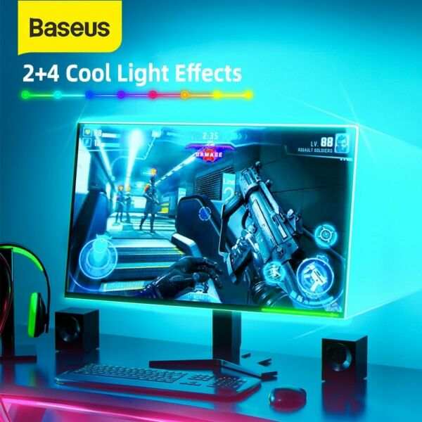 Baseus RGB Color Gaming LED Light Strip USB Powered Changeable Light For TV PC