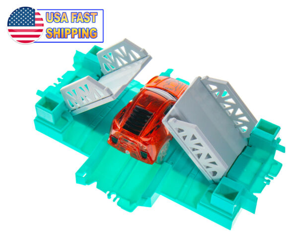 Magic Twisting Flexible Race Car Tracks - Automatic Draw Bridge 4 Way Connector  $10.49