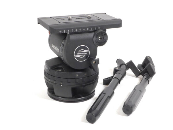 Sachtler 2500P 25P Tripod Head Video 25 PLUS 150mm Mitchell 25P Flat Base 25