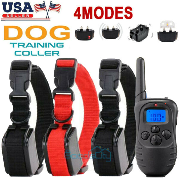 Waterproof 1000 Yards 2 Dog Shock Training Collar Remote for Large Med Small Dog $29.99