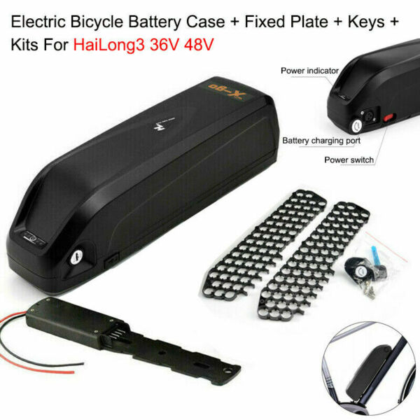 Electric Bicycle Battery Case Fixed Plate Keys Kits For HaiLong 36V 48V