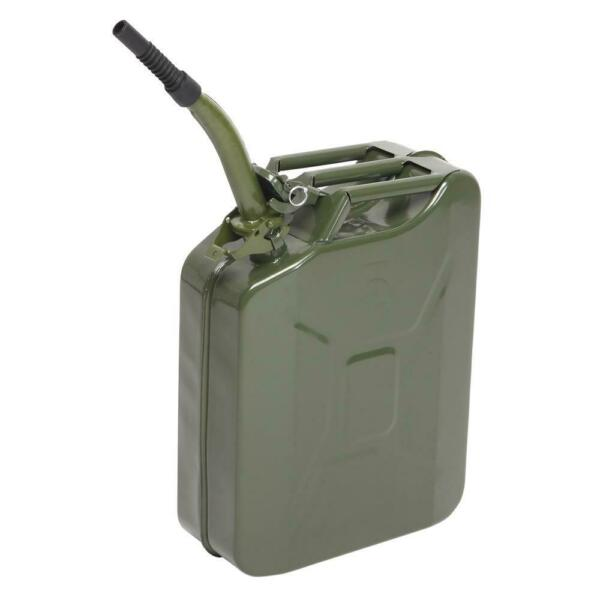 Jerry Can 5 Gal 20L Steel Gasoline Gas Fuel Tank Military Emergency Portable New $25.99
