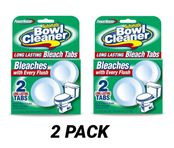 4 Tabs Power House Automatic Toilet Bowl Cleaner Bleaches  Pack 2Sealed $12.99