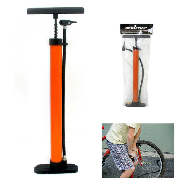 Bicycle Floor Pump Metal Hand Foot Air Bike Tire Shrader Valve 60 PSI 19quot; New $19.99