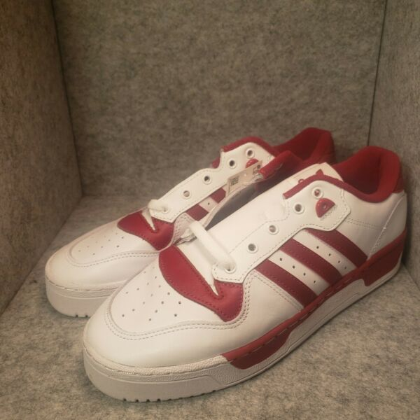 *New* adidas Rivalry Low White/Red EE4967 Size 9 Classic Rare 💥💥