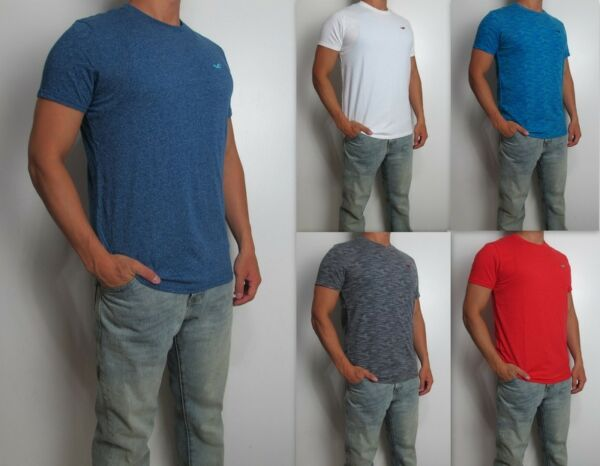 NWT HOLLISTER Men Must Have Slim Crew Neck tag less T Shirt Tee By Abercrombie $15.99