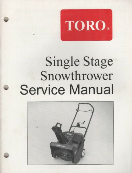 1965 2000 TORO SINGLE STAGE SNOWTHROWER SERVICE MANUAL 492 0700 518