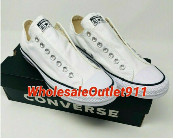 New Converse Chuck Taylor All Star Slip On Sneakers Shoes 8 Laceless FAST SHIP!!
