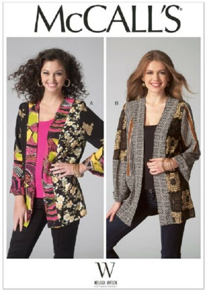 M7132 McCall's Sewing Pattern Misses 4-26 Scrappy Coat of Many Colors Jacket